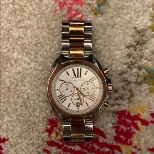 Michael Kors Chronograph Silver & Gold-tone Watch